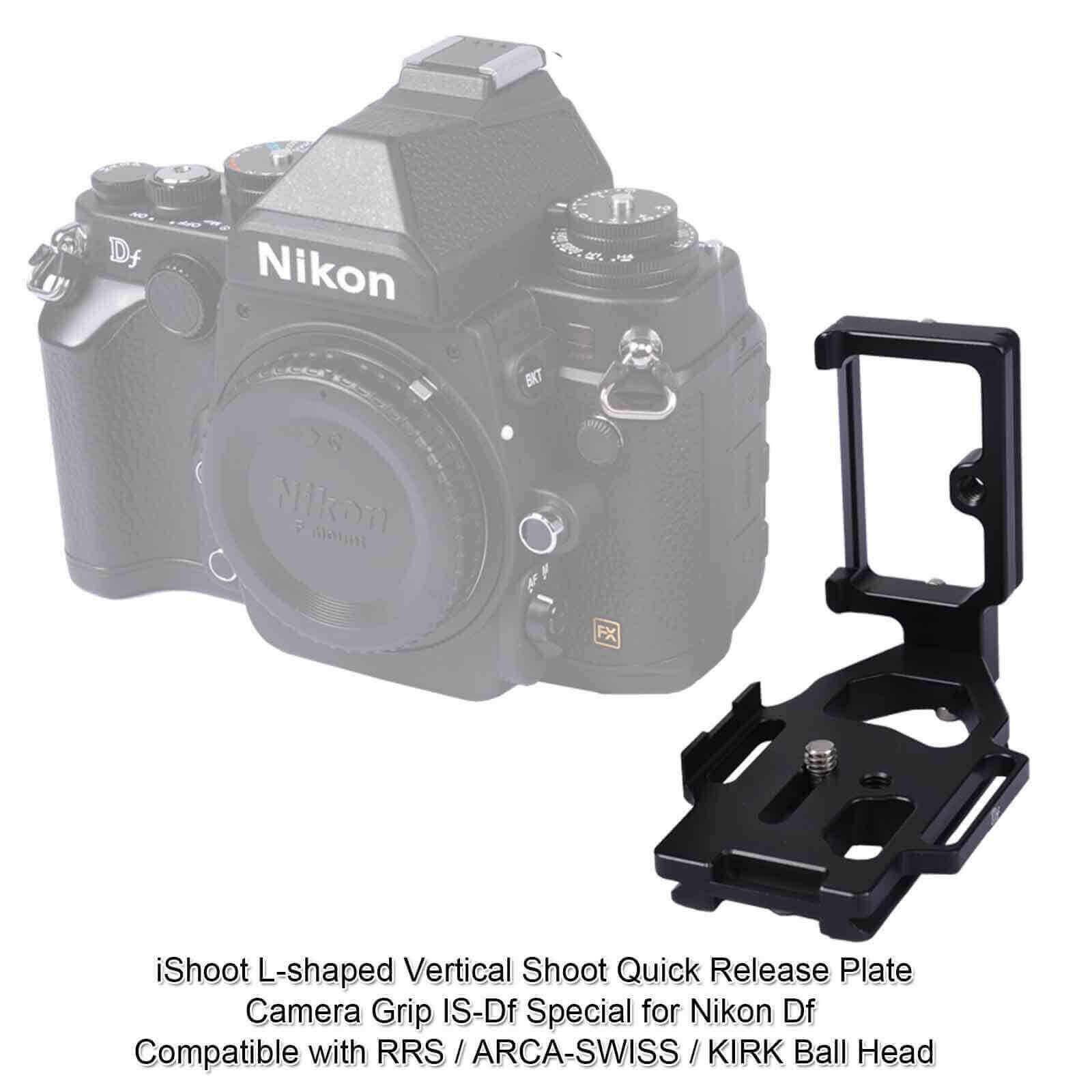 L-Shaped Vertical Shoot Quick Release Plate//Camera Holder Bracket Grip Special for Fujifilm X-T1 Compatible with ARCA-Swiss//Kirk Tripod Ball Head