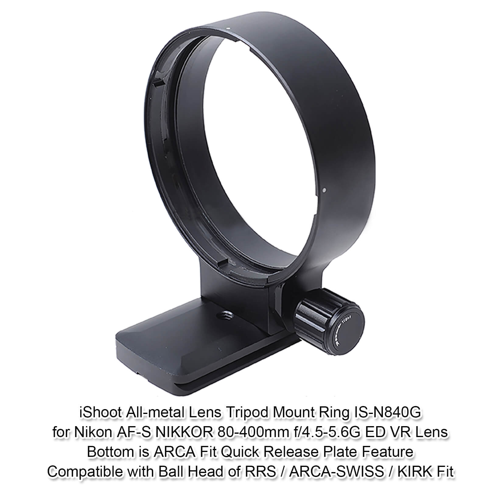 Built-in ARCA-Swiss Fit Quick Release Plate for Arca Type Tripod Ball Head iShoot CNC Machined Lens Support Collar Tripod Mount Ring Compatible with Nikon AF-S NIKKOR 28-300mm f//3.5-5.6G ED VR Lens