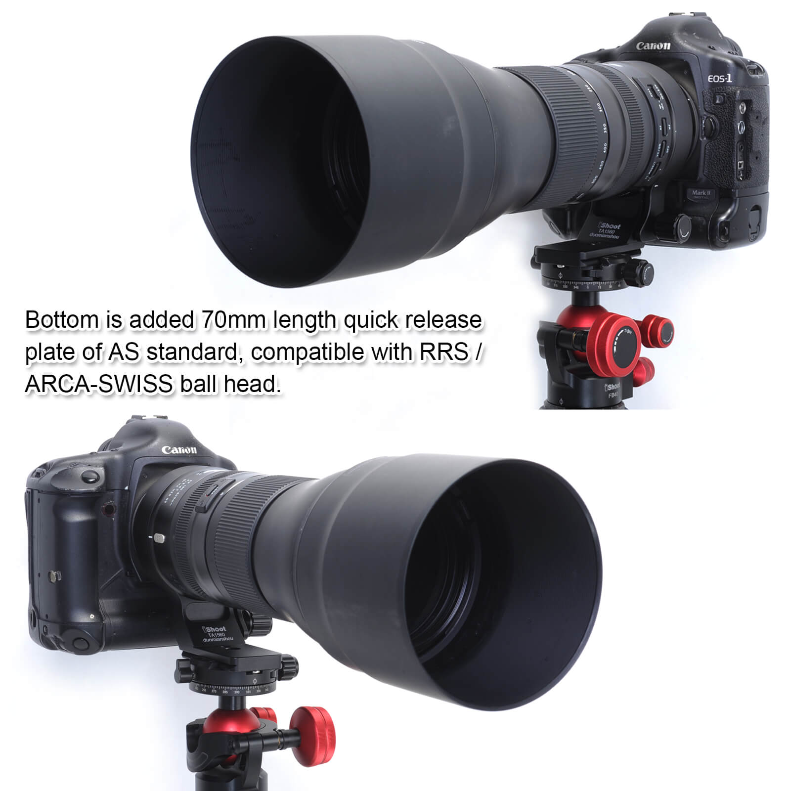 Built-in ARCA Type Quick Release Plate for Tripod Ball Head iShoot Camera Lens Collar Support for Tamron SP 150-600mm f//5-6.3 Di VC USD G2 Lens A022 Tripod Mount Ring